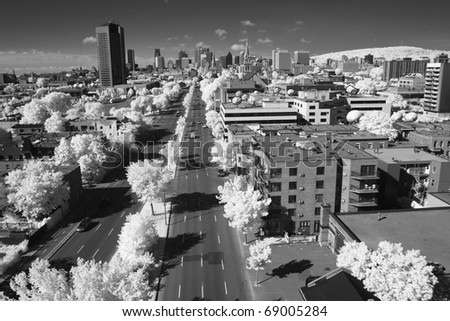 Panoramic View of Montreal, Quebec. - stock photo