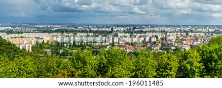Panoramic view of neighborhood in Budapest. Hungary   - stock photo