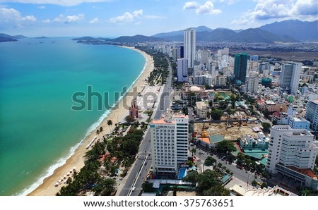 Panoramic view of Nha Trang, Vietnam
