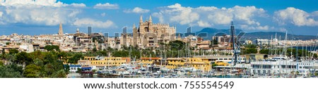Panoramic view of Palma de Mallorca in Spain