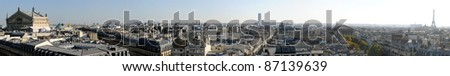 Panoramic view of Paris in high definition - France - stock photo