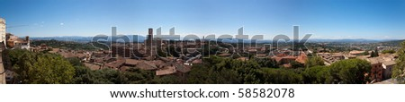 Panoramic View of Perugia in Tiber's Valley