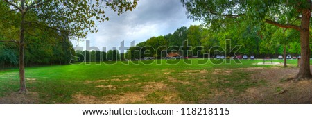 Panoramic View of Pinnacle Mountain State Park in Little Rock, Arkansas - stock photo