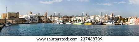 Panoramic view of Port in Monopoli. Phulia.