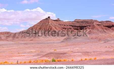 Panoramic view of Red rock buttes in Arizona - stock photo