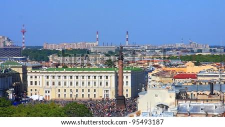 Panoramic view of Saint Petersburg, Russia - stock photo