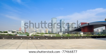 panoramic view of shenzhen special economic zone,China