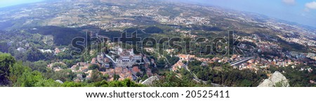 Panoramic view of Sintra
