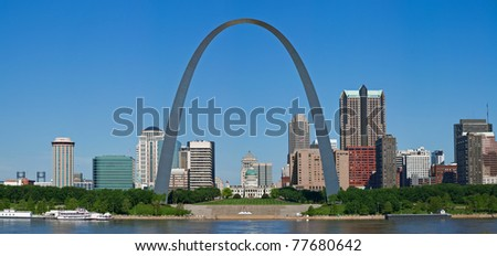 Panoramic view of St. Louis. - stock photo