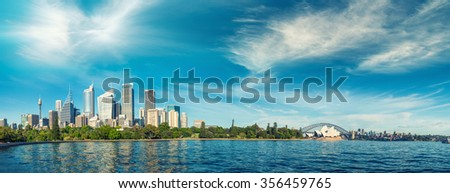 Panoramic view of Sydney - New South Wales, Australia. - stock photo