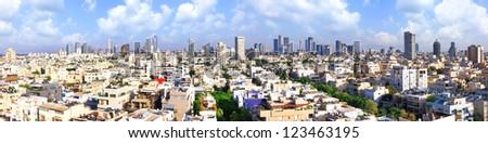 Panoramic view of Tel-Aviv  (Tel-Aviv. Israel) - stock photo