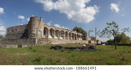 Panoramic view of the Castle of Abrantes in Portugal