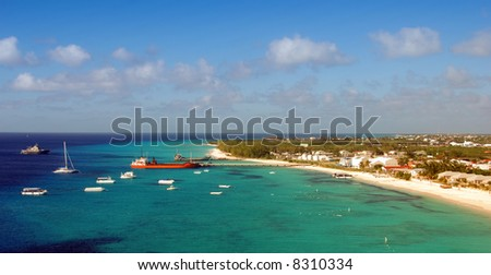Panoramic view of the island of Grand Turk