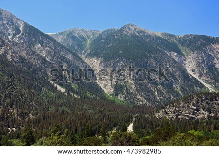 Panoramic View of the mountains around mount Princeton in chalk creek canyon, colorado