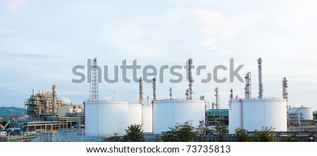 Panoramic view of the propylene chemical plant - stock photo