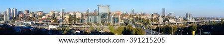 Panoramic view of the Rostov-on-Don city - stock photo