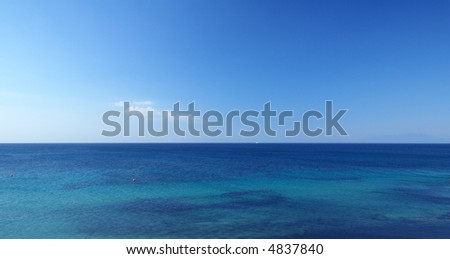 panoramic view of the sky and sea - stock photo