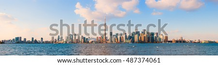 Panoramic view of Toronto skyline at day time