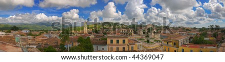 Panoramic view of Trinidad town and sierra del escambray, cuba - stock photo