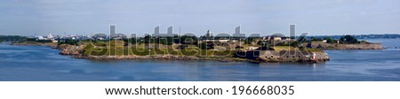 Panoramic view on a fortress of Suomenlinn in summer day, Helsinki, Finland