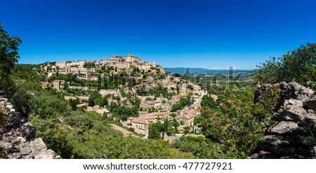 Panoramic view on Gordes Southern France