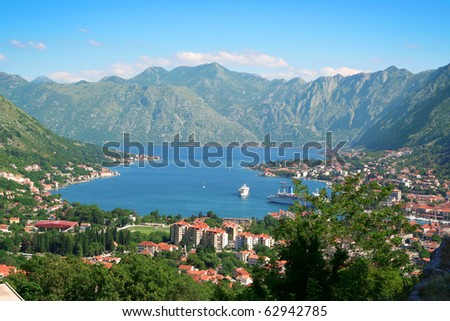 Panoramic view on Kotor, Montenegro.