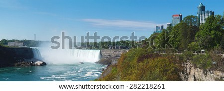 Panoramic view on Niagara Falls, Canada - stock photo