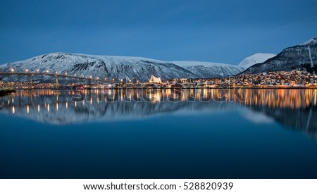 Panoramic view on Tromso, Norway