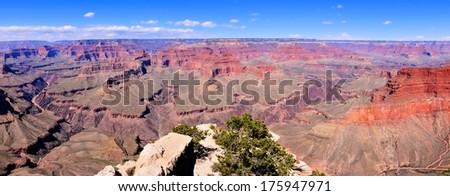 Panoramic view over the vast Grand Canyon, Arizona, USA - stock photo