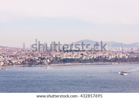 panoramic views across the Golden Horn, Istanbul, Turkey