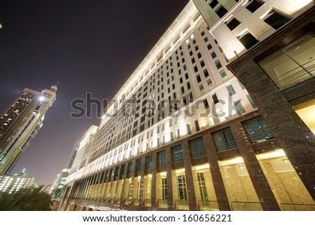 panoramic views of downtown of dubai city - stock photo