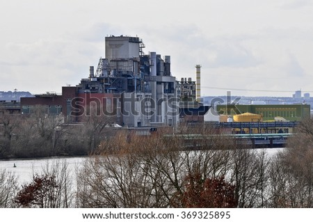 Panoramic views of the Chemical Plant Factory. - stock photo