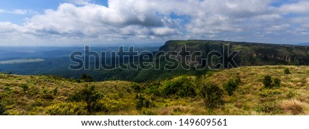 Panoramic vista from God's Window - Blyde River Canyon - Mpumalanga - South Africa - stock photo