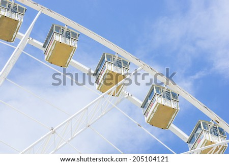 panoramic wheel at the funfair - stock photo