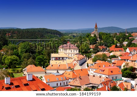 Panoramic wiev to Veszprem, Hungary  - stock photo