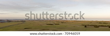 Panorma of the Old Course - stock photo