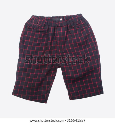 pant's. child's shorts pant's on background