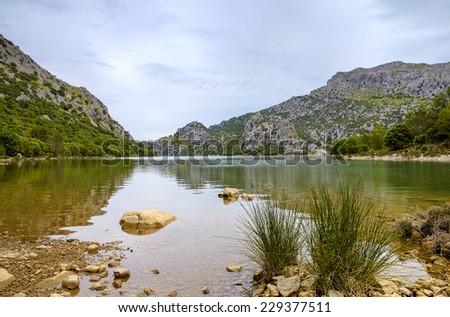 Panta de Gorg Blau on Mallorca - stock photo