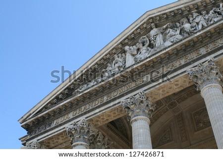 Pantheon in Paris - stock photo