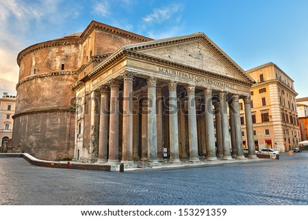 Pantheon in Rome, Italy - stock photo