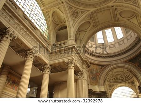Pantheon inside - stock photo