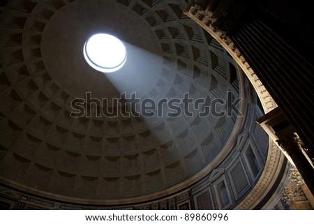 pantheon of Agripa in Rome - stock photo
