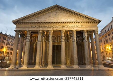 Pantheon . Rome. Italy - stock photo