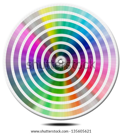 Pantone Color Palette - blur circle / Pantone color palette guide isolated on white background - circle - stock photo