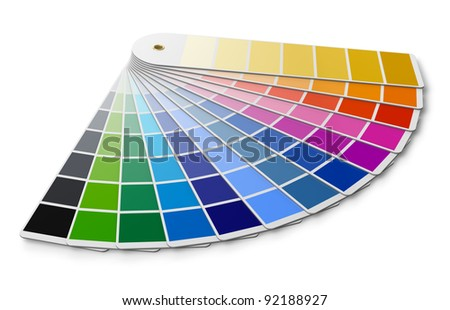 Pantone color palette guide isolated on white background - stock photo