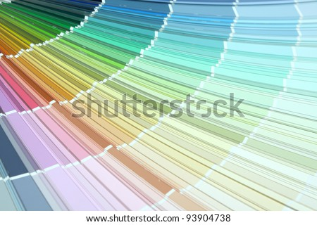 Pantone sample colors - stock photo