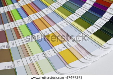Pantone sample colors catalogue - stock photo