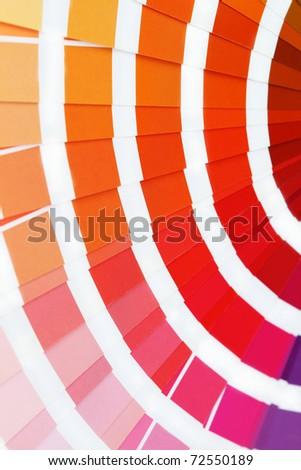 Pantone sample colors catalogue - stock photo