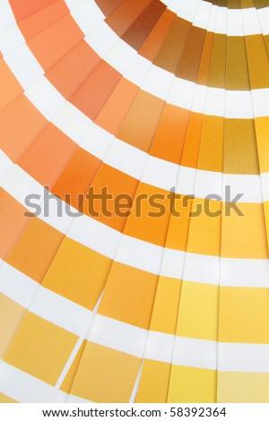 Pantone. Yellow colors catalog - stock photo