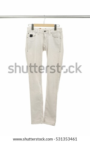 pants trousers isolated on hanger